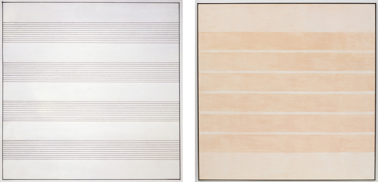Agnes Martin - Acrylic and Graphite 2002 // Ink on Paper 1990 - via Pace Gallery