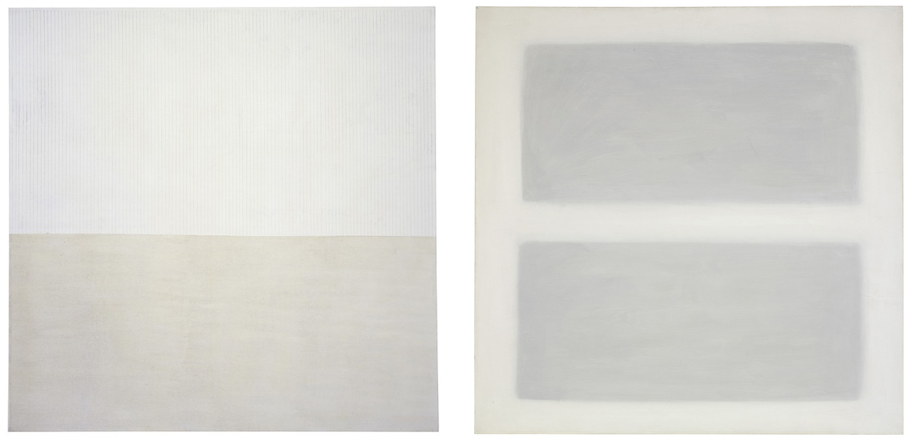 Agnes Martin - Acrylic and Graphite 2003 // Unbeckoning Grass 1958 - via Pace Gallery