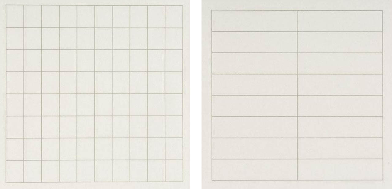 Agnes Martin - On a clear day 1-2 - via Wikiart