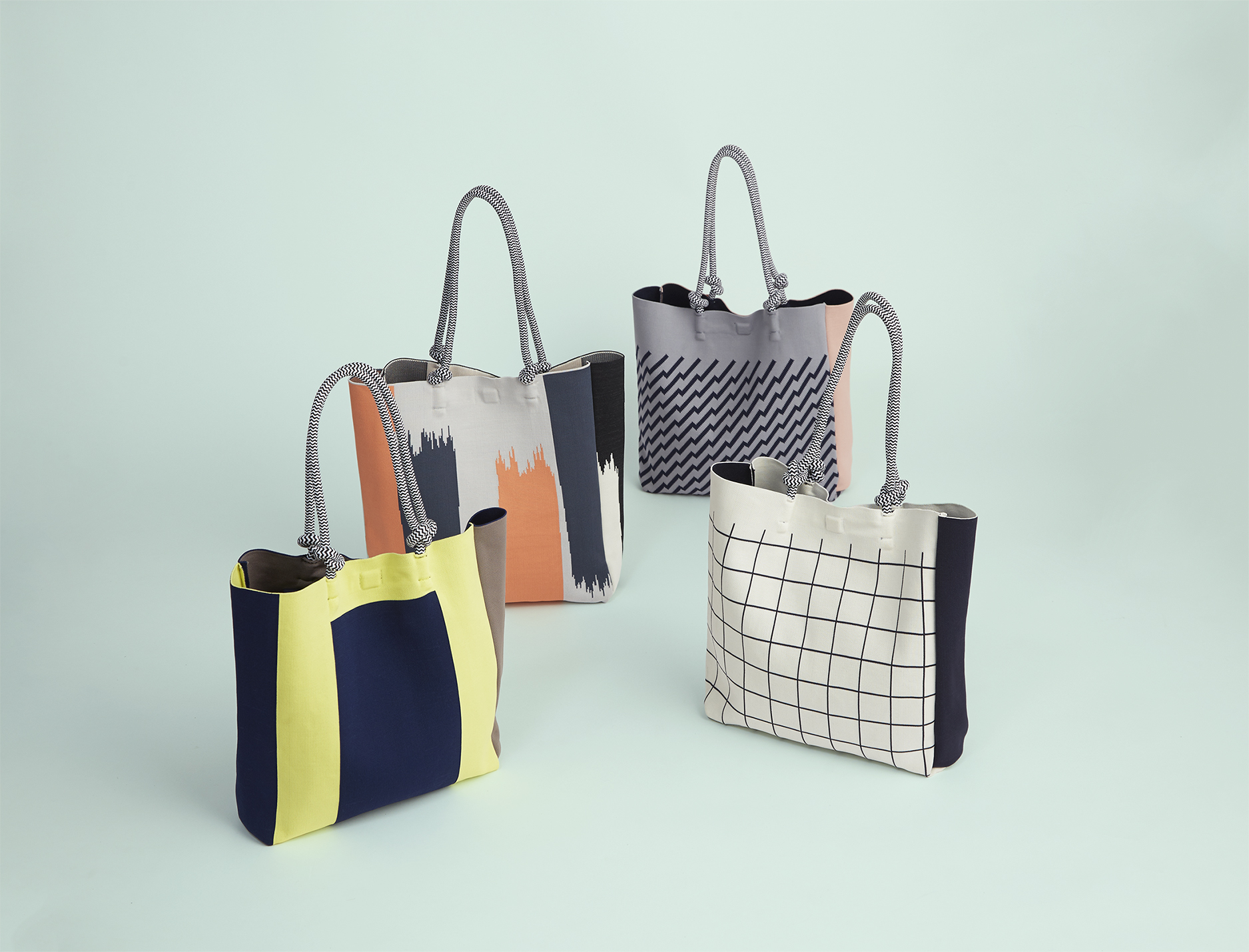The current TRICOTÉ handbag collection.